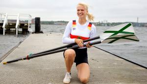 Wasser ist ihr Element, Rudern ihre Passion: Vize-Europameisterin Frieda Hämmerling aus Kiel. Foto: Paar