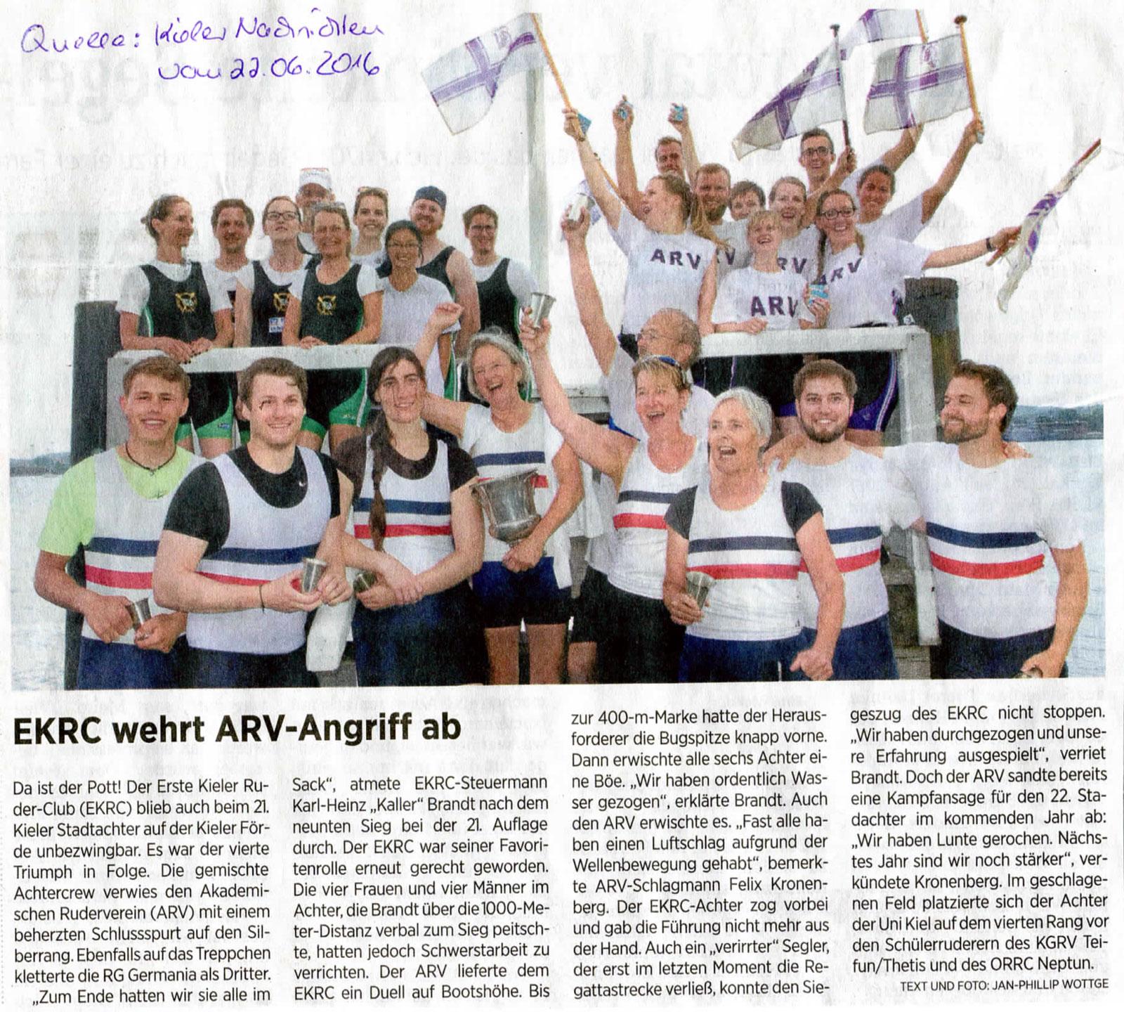 EKRC wehrt ARV-Angriff ab