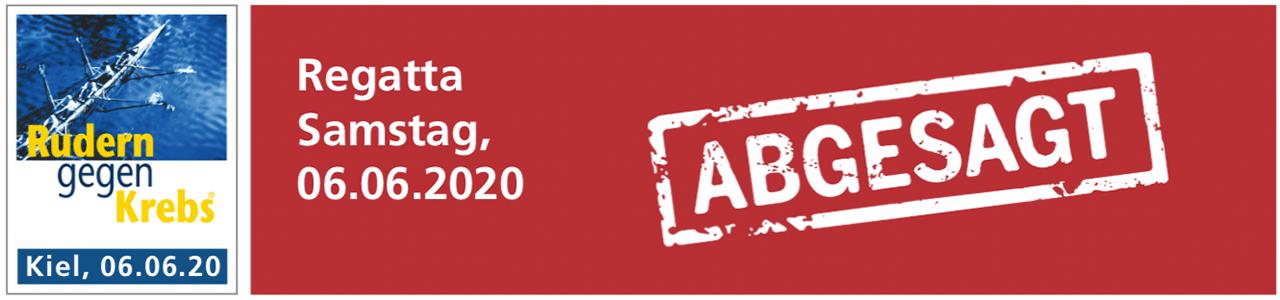 Absage Regatta Rudern gegen Krebs in Kiel 2020